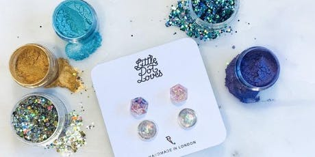 Make Glitter Earrings with Little Dot Loves at Drink, Shop & Do tickets