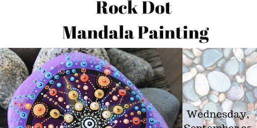 Rock Dot Mandala Painting