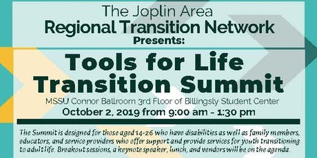 Tools for Life Transition Summit 2019 hosted by the Joplin Regional Transition Network  tickets