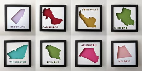 Collaged Map Shadowboxes with Abigail of yeiou paper objects tickets