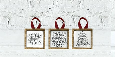 Craft Lettering for Ornaments tickets