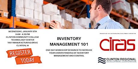 Inventory Management 101 w/Marc Schneider, CIRAS Project Manager tickets