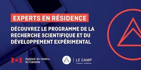 Découvrez le programme de la RS & DE avec l'Agence du revenu du Canada billets