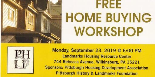 Free Home Buyer Work Shop