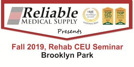 Fall 2019, Rehab CEU Seminar, Brooklyn Park tickets