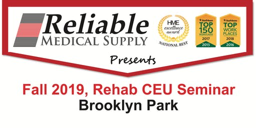 Fall 2019, Rehab CEU Seminar, Brooklyn Park