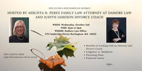 JOIN THE EXPERTS FOR A DISCUSSION ON DIVORCE tickets
