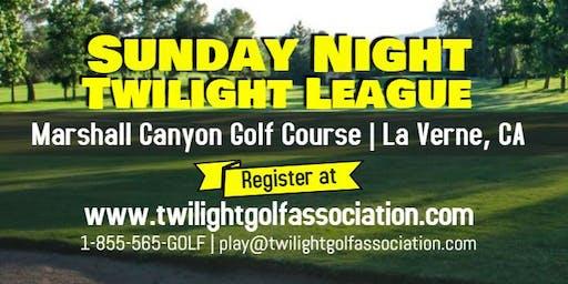 Sunday Twilight League at Marshall Canyon Golf Course