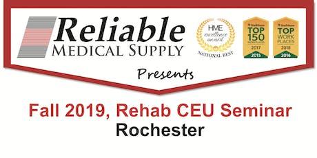 Fall 2019, Rehab CEU Seminar, Rochester tickets