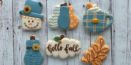 FALL THEME BEGINNERS COOKIE DECORATING
