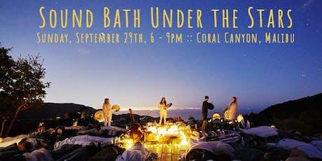 Sound Bath Under the Stars tickets