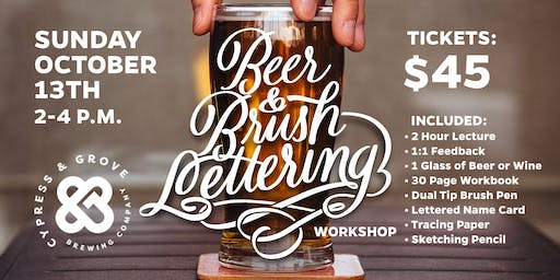 Beer and Brush Lettering Workshop