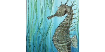 Brush Strokes For the Bays at Cowfish: Paint Nights for a Purpose! ~Seahorse