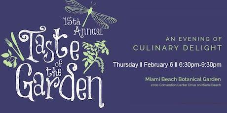 15th Annual Taste of the Garden tickets