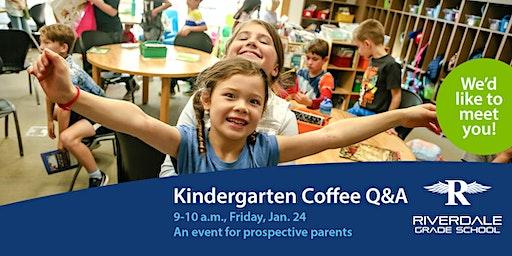 2020 Kindergarten Coffee Q&A for Parents