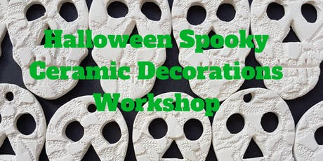 Spooky Halloween ceramic decorations workshop 29.9.19 (York, UK) tickets