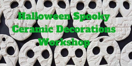 Spooky Halloween ceramic decorations workshop 29.9.19 (York, UK)