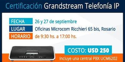 Certificacion GRANDSTREAM TELEFONIA IP