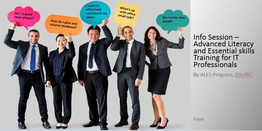 ISSofBC ALES@Work FREE Soft Skills Training for IT Professionals