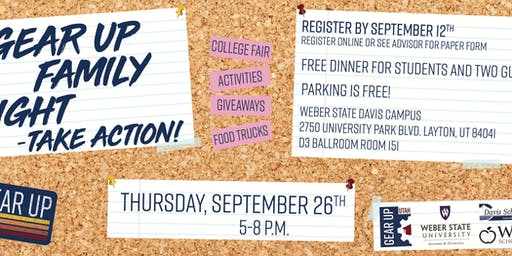 GEAR UP Family Night: Take Action!