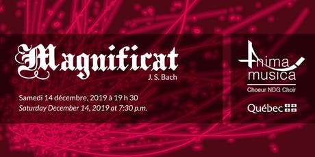 Choeur Anima Musica Choir - Magnificat J.S. Bach tickets