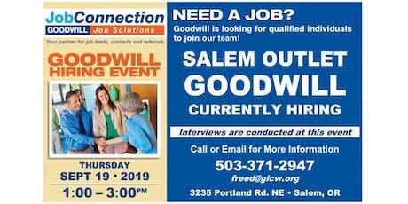 Goodwill is Hiring - Salem - 9/19/19 tickets
