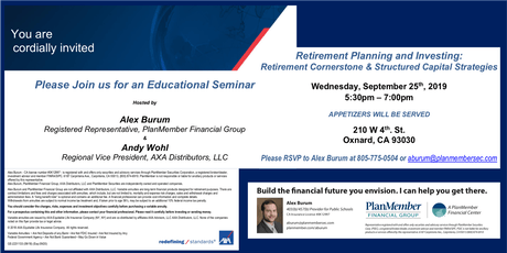AXA Retirement Planning and Investing Educational Seminar tickets