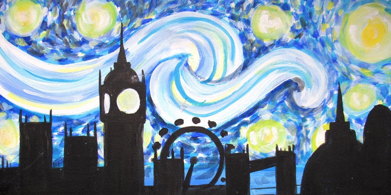 Paint Starry Night London + Food/Wine!