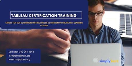 Tableau Certification Training in  Laurentian Hills, ON tickets