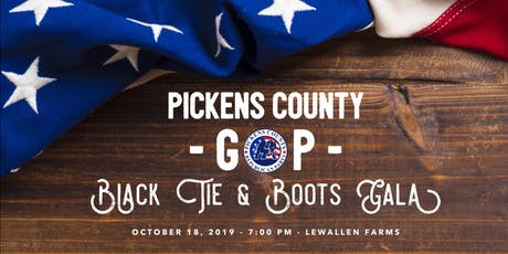 Pickens County GOP Black Tie & Boots Gala tickets