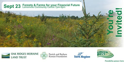 Forests and Farms for your Financial Future
