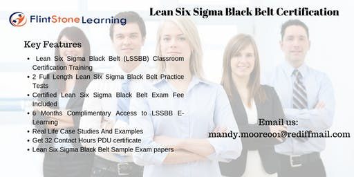 LSSBB Training workshop in Indianapolis, IN