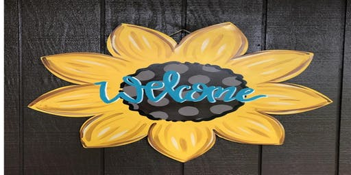 Sunflower Door Hanger $40.00