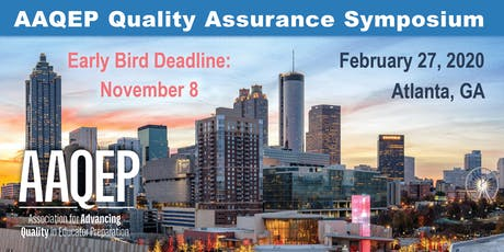 2020 AAQEP Quality Assurance Symposium tickets