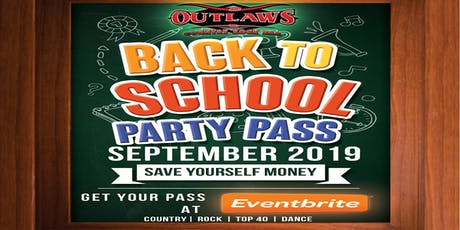 Outlaws September Party Pass tickets