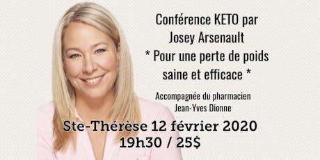 ST-THÉRÈSE - Conférence KETO - Pour une perte de poids saine et efficace! 25$ tickets