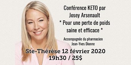 ST-THÉRÈSE - Conférence KETO - Pour une perte de poids saine et efficace! 25$ billets