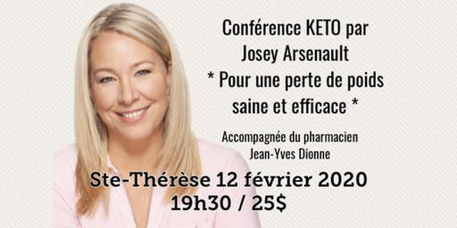 ST-THÉRÈSE - Conférence KETO - Pour une perte de poids saine et efficace! 25$