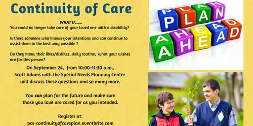 Continuity of Care - Having a Plan for those you love