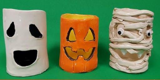 Clay Halloween Votives
