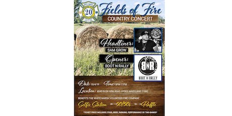 WMVFC Fields of Fire Country Concert featuring Sam Grow and Boot N Rally tickets