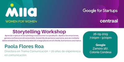Storytelling Workshop (Evento exclusivo para mujeres)