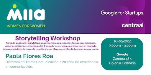 Storytelling Workshop (Evento exclusivo para mujeres)