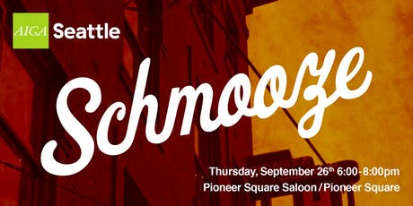 AIGA Seattle Schmooze: September 2019 tickets