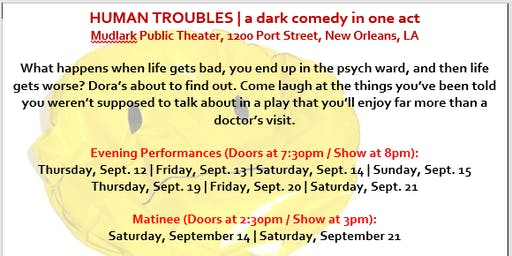 Human Troubles   a dark comedy in one act