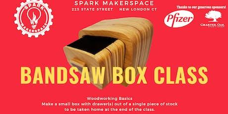 Woodshop Basics: Make a Small Drawered Box (Band Saw Box) tickets