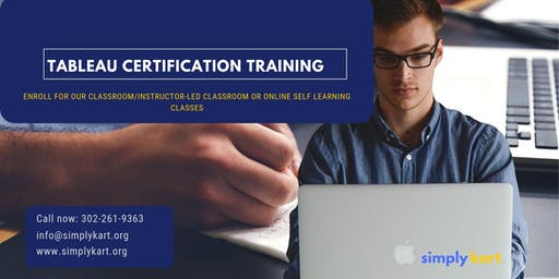 Tableau Certification Training in  North Bay, ON
