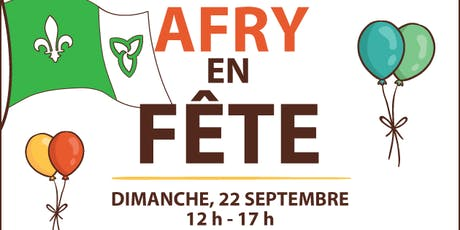AFRY EN FÊTE : journée familiale avec le lever du drapeau  franco-ontarien billets