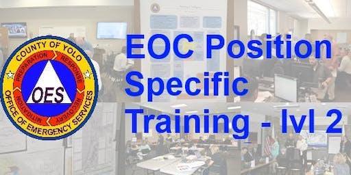 EOC Position Specific Training - level 2, Logistics