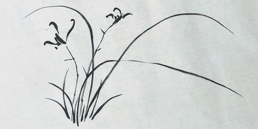 Chinese Brush Painting: Orchid